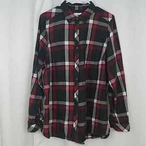 Sonoma Plaid Shirt Size 1X